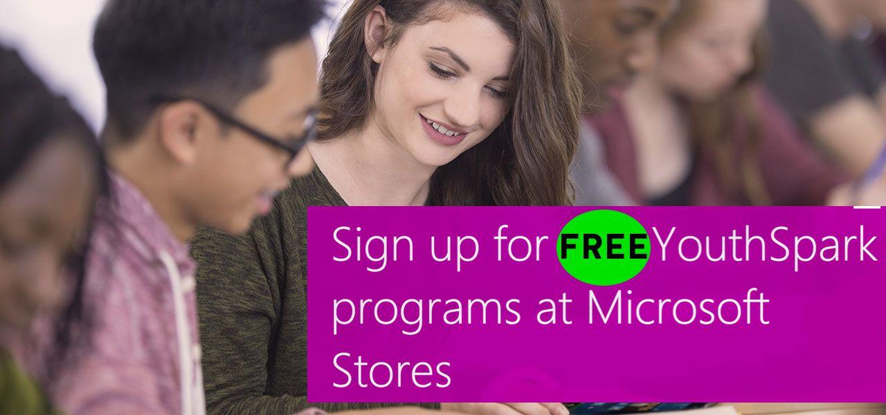 FREE YouthSpark Kids Camp at Microsoft!