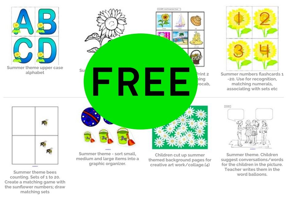 HUGE Library of FREE Summer Printables!