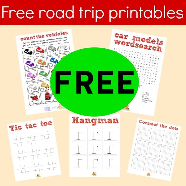 FREE Road Trip Travel Printables!