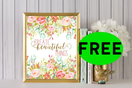 FREE Summer Inspired Floral Printable House Decor!