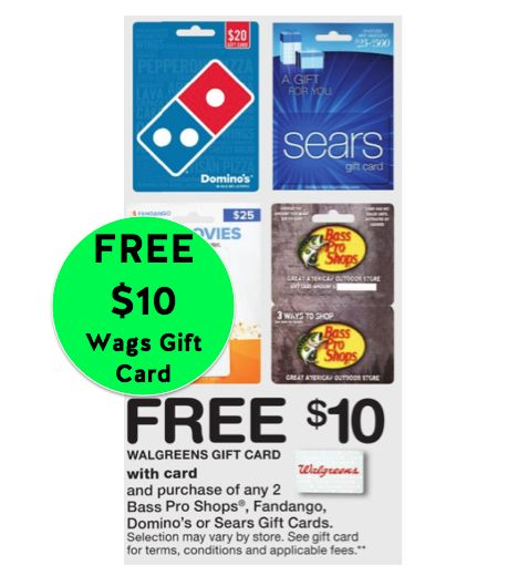 FREE $10 Walgreens Gift Card wyb (2) Gift Cards! Father's Day is This Sunday!