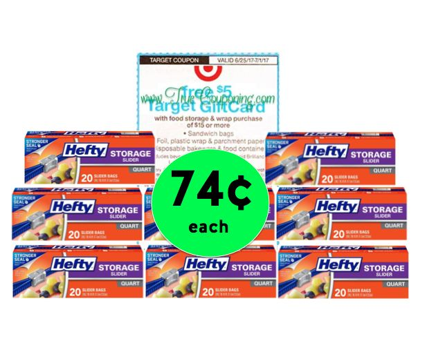 Storage Bag Bonanza! Get EIGHT (8!) Boxes of Hefty Slider Bags for $.74 Each at Target! ~ Ends Sat 7/1!