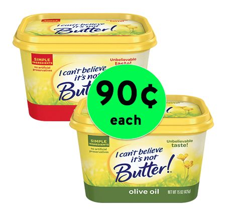 Pick Up TWO (2!) Tubs of I Can't Believe It's Not Butter Spread for As Low As 90¢ Each at Winn Dixie! ~ Starts Today!
