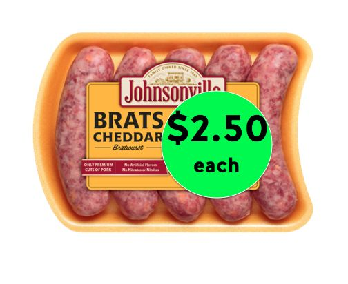 Perfect for Grilling! Get Johnsonville Brats Only $2.50 Each at Winn Dixie! ~ Going on Now!