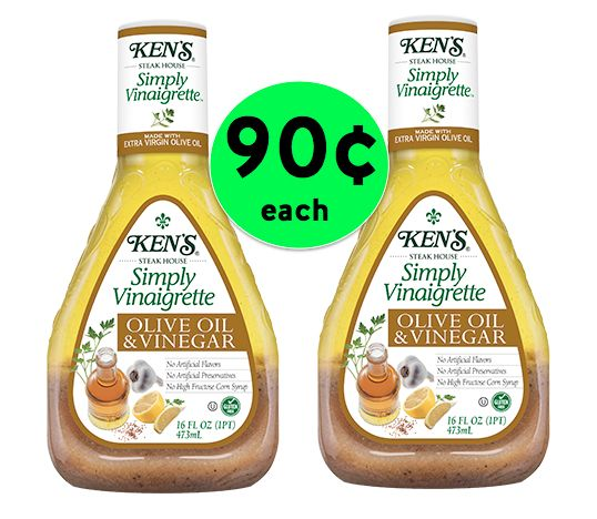 Your Salad Wants This Deal! Pick Up TWO (2!) Bottles of Ken's Salad Dressing for ONLY 90¢ EACH! ~Starts Tomorrow!