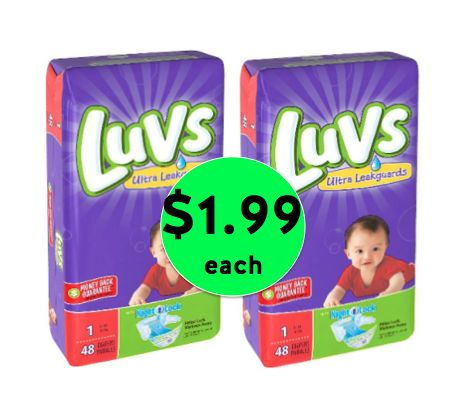 Super Diaper Deal! Pick Up Luvs Jumbo Diaper Packs Only $1.99 Each at Target! ~ Ends Wednesday!