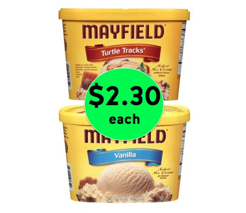 Don't Miss the Terrific Deal on Mayfield Ice Cream! Only $2.30 Each at Winn Dixie! ~ Ends Tomorrow!