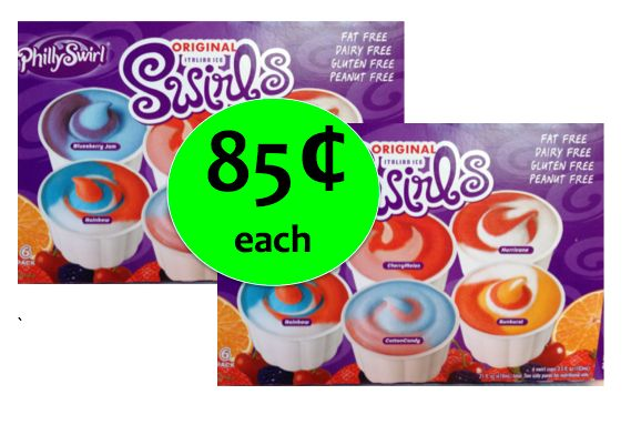 Cool Off with PhillySwirl Italian Ice Cups ONLY 85¢ Each at Winn Dixie! ~ Right Now!