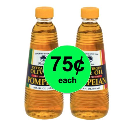 Don't Miss the Deal on Pompeian Extra Virgin Olive Oil ONLY 75¢ Each at Winn Dixie! ~ Right Now!