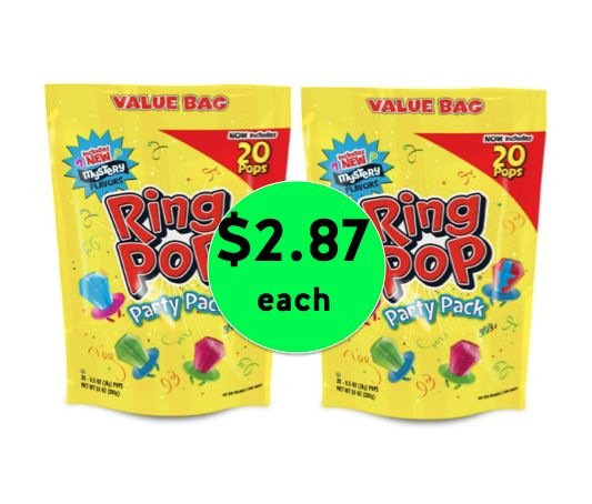 Nab 20 Count Ring Pop Bags ONLY 14¢ Per Pop at Target! ~ Happening Now!
