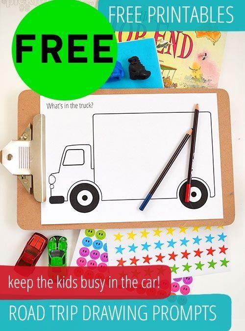 FREE Road Trip Drawing Prompts Printables!