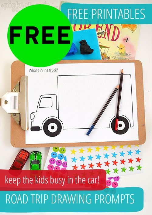 FREE Road Trip Drawing Prompts Printables!