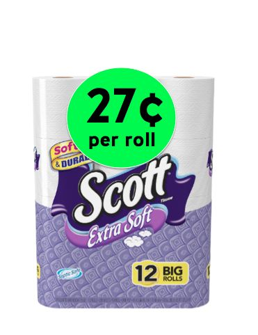 Stock Up on TP! Get Scott Extra Soft Bath Tissue for Only 27¢ Per Roll at Walgreens! ~ Right Now!
