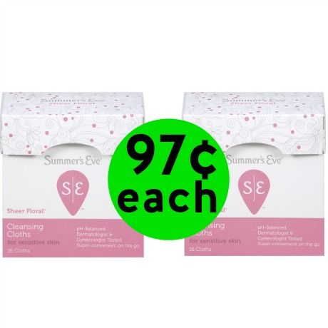 Pick Up 97¢ Summer's Eve Cleansing Cloths at Walmart! (Ends 3/15)
