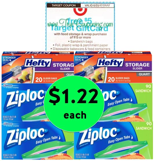 Don't Miss Out on Stocking Up for Back to School! Pick Up SIX (6!) Baggie Boxes ONLY $1.22 Each at Target! ~ Ends Saturday!