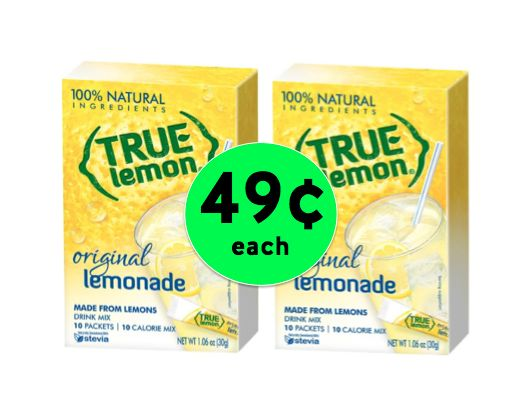 Drink Up! Get TWO (2!) Boxes of True Lemon Lemonade Mix for Only 49¢ Each at Target! ~ Right Now!
