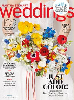 FREE One-Year Subscription to Martha Stewart Weddings Magazine