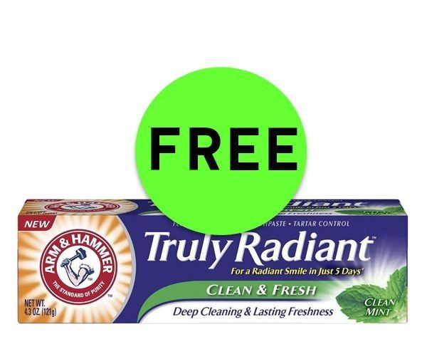 Dont' Miss FREE Arm & Hammer Truly Radiant Toothpaste at CVS! ~ Ends Saturday!