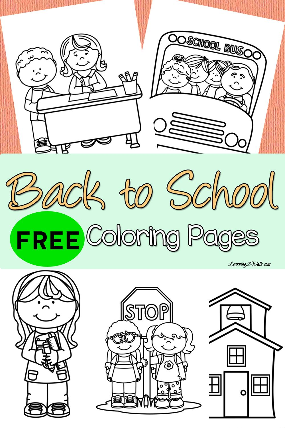 FREE Back To School Printable Coloring Pages!