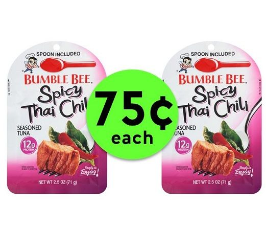 Grab a Quick Lunch with 75¢ Bumble Bee Seasoned Tuna Pouches {After Rebate} at Publix! ~ Going On Now!