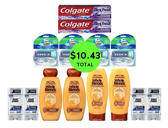 For Only $10.43 TOTAL, Get (2) Toothpastes, (4) Deodorants, (4) Hair Care & (4) Toilet Cleaners at CVS! ~ Ad Starts Today!