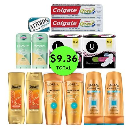 For Only $9.36 TOTAL, Get (1) Mint, (2) Deodorants, (2) Toothpastes, (2) U by Kotex & (6) Hair Care at CVS! ~ Ad Starts Today!