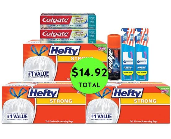 For Only $14.92 TOTAL, Get (1) Shave Gel, (2) Toothpastes, (2) Toothbrush 2-Packs & (3) Trash Bag Boxes This Week at CVS!