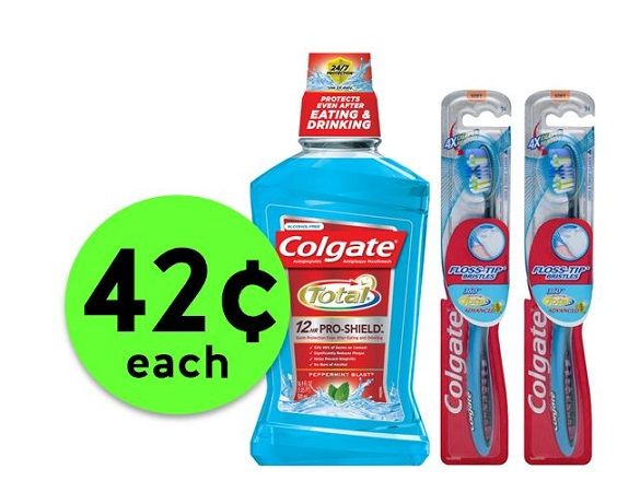 Grab a Cart for 42¢ Colgate Mouthwash & 360 Toothbrushes at CVS! ~ Happening Now!