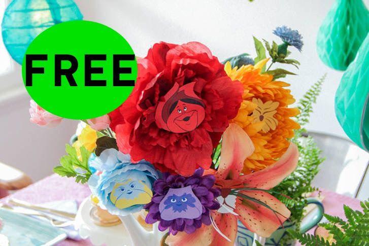 FREE Alice in Wonderland Flowers!