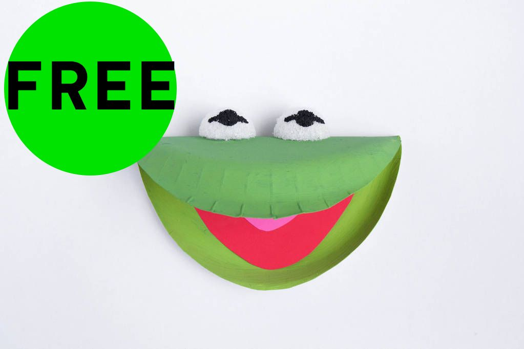 FREE Kermit the Frog Printable Plate!