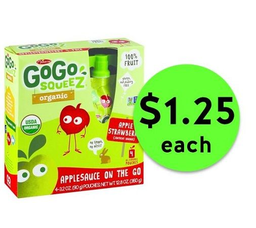 Sauce It Up with $1.25 GoGo Squeez Applesauce On the Go Pouches at Publix! ~ Ad Starts Today!