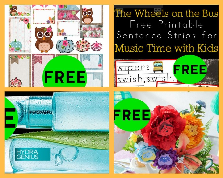 FOUR (4!) FREEbies: Sentence Strips for Kids, Alice in ...