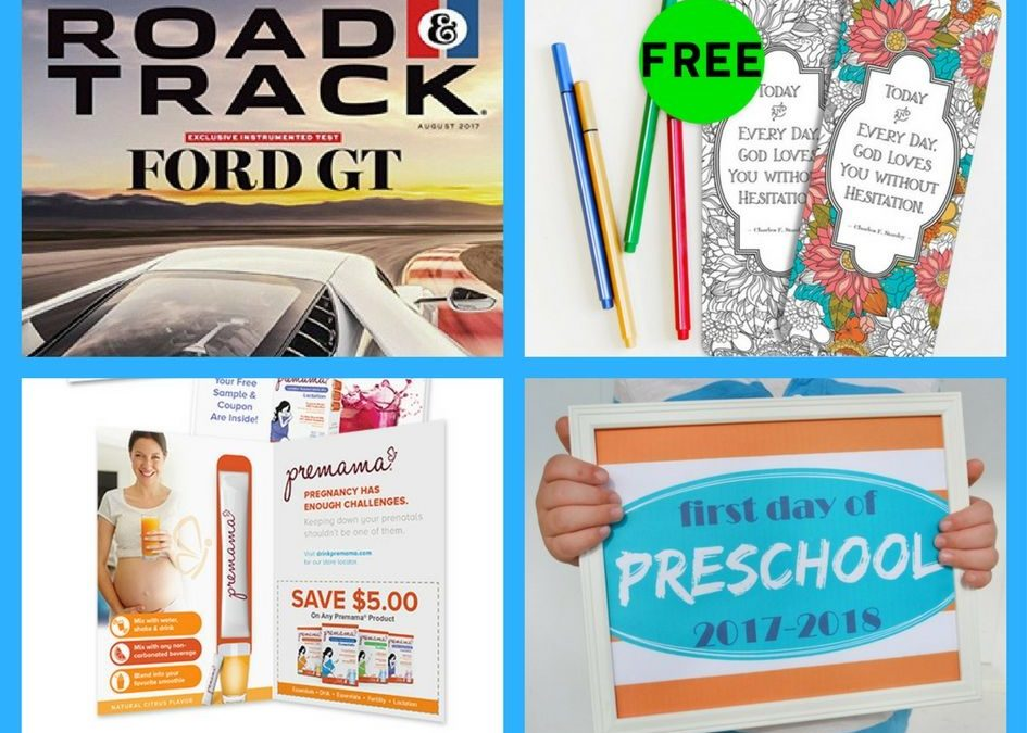 FOUR (4!) FREEbies: Annual Subscription to Road & Track Magazine, Bookmarks, Premama Prenatal Vitamins PLUS $5 Coupon and First Day of School Printables!