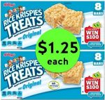 PRINT NOW for $1.25 Kellogg's Rice Krispies Treats at Publix! ~ Ends Tues/Weds!