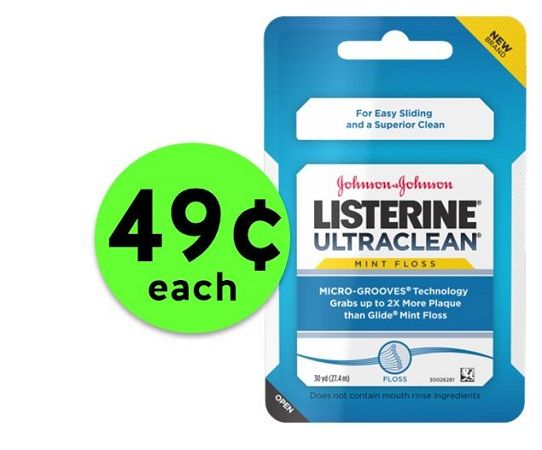 Floss Away with 49¢ Listerine Ultraclean Floss at Publix! ~ Ends Friday!