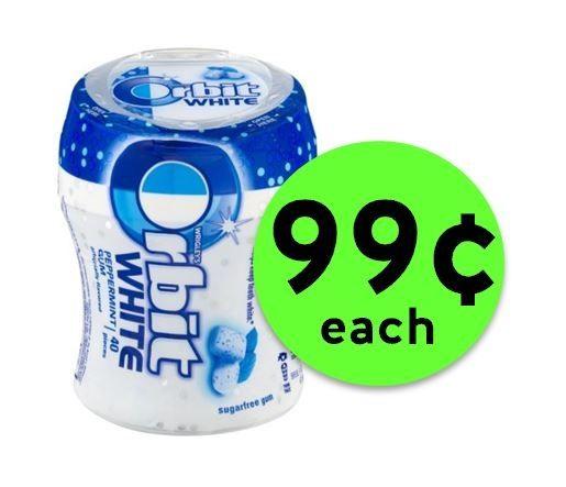 Pick Up Orbit White Gum Bottle ONLY 99¢ Each at CVS! ~ Going On Now!