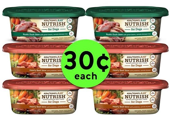 Buy ONE (1!), Get FIVE (5!) FREE Rachael Ray Wet Dog Food Tubs {Just 30¢ Each} at Publix! ~ NOW!
