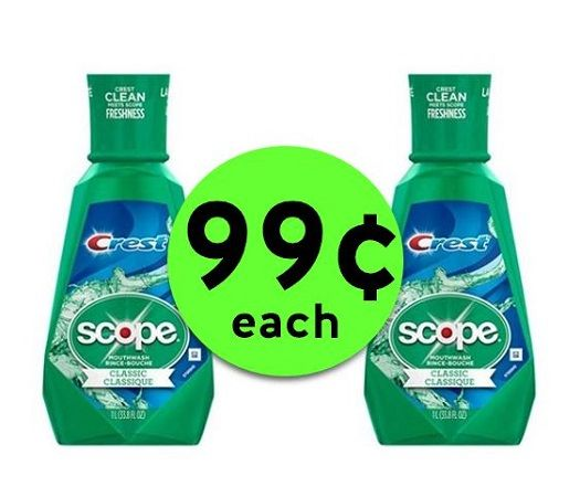 Freshen Up with 99¢ Scope Mouthwash BIG 1 Liter Bottles at CVS! ~ Going On Now!