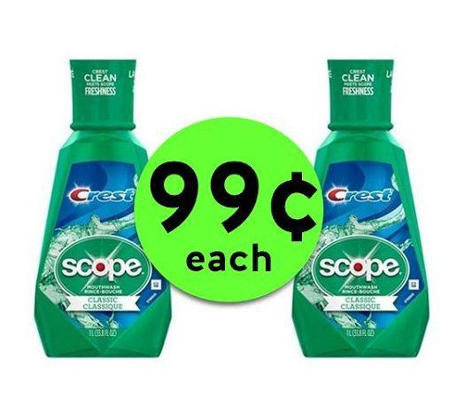Freshen Up with 99¢ Scope Mouthwash BIG 1 Liter Bottles at CVS! ~ Going On Now!