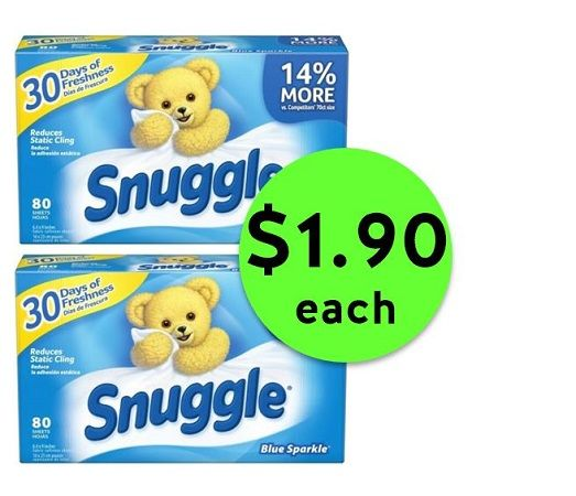 Snuggle Up to $1.90 Snuggle Dryer Sheets at CVS! ~ Ends Saturday!
