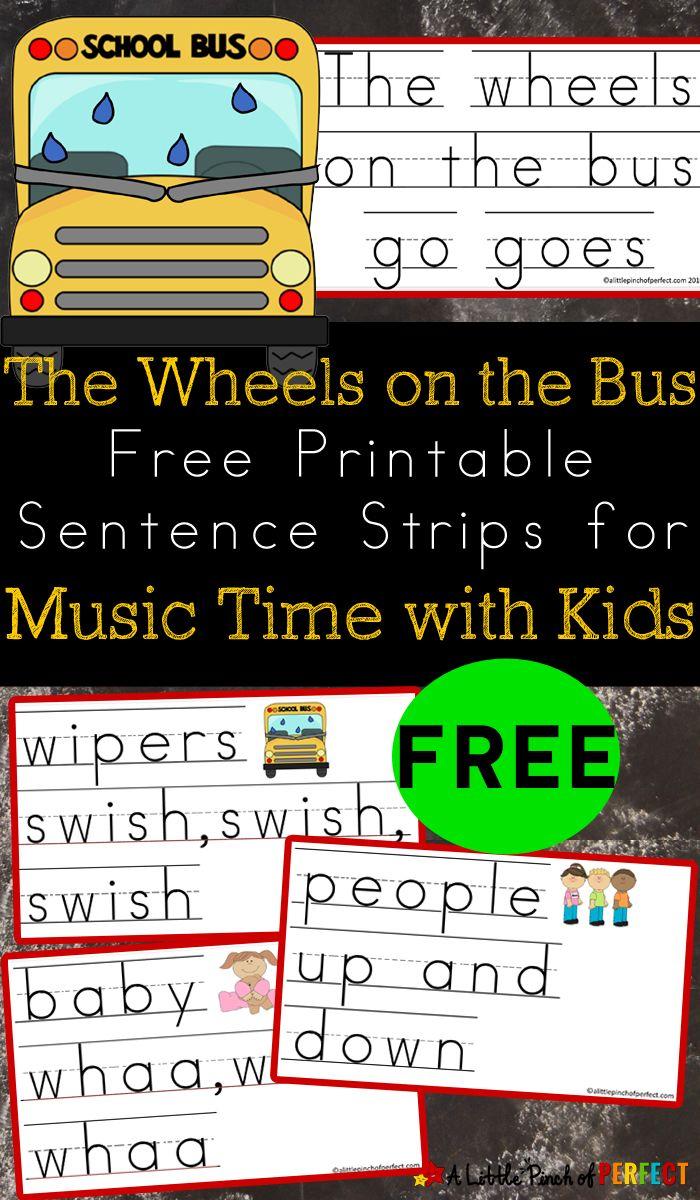 FREE Sentence Strips for Kids Printable!