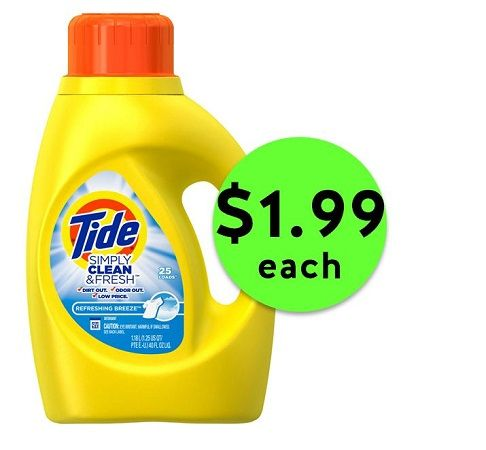 Save BIG on Tide Simply Clean & Fresh Detergent ONLY $1.99 Each at Publix! ~ NOW!