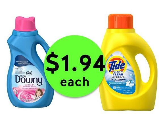 Pick Up Tide Simply Detergent or Downy Softener JUST $1.94 Each at CVS! ~ NOW!