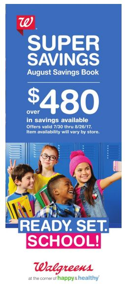 Walgreens AUGUST 2017 Coupon Savings Booklet
