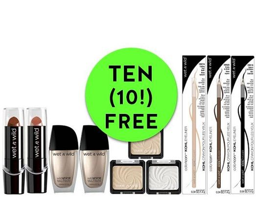 Don't MISS Out on TEN (10!) FREE Wet N Wild Cosmetics at CVS! ~ Ends Saturday!