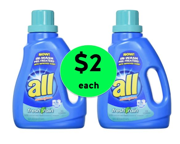 Pick Up TWO (2!) ALL Liquid Detergent For Only $2 Each at Winn Dixie! ~ Right Now!