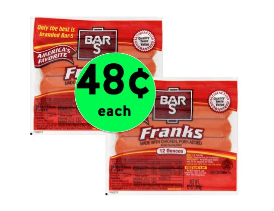 Pick Up Bar-S Franks Only 48¢ Each at Walmart! ~Right Now!
