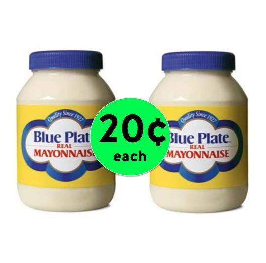 Don't Miss This! SUPER CHEAP Blue Plate Mayonnaise Only 20¢ Each at Winn Dixie! ~Ends Tomorrow!