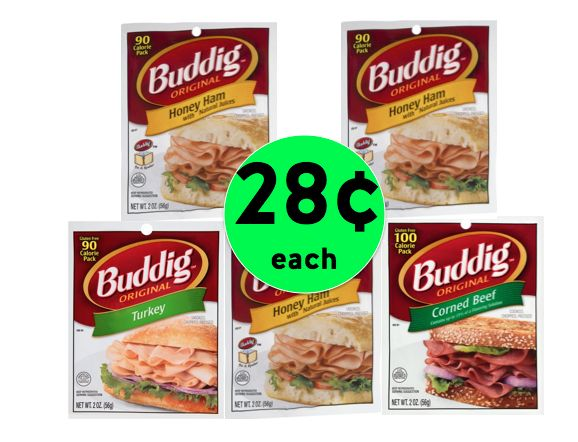 Pick Up FIVE (5!) Buddig Original Lunch Meat Packages Just 28¢ Each at Walmart! ~ Right Now!