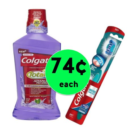 TWO (2!) Colgate Total Advanced Dental Care Products Only 74¢ Each at Walgreens! ~ Right Now!